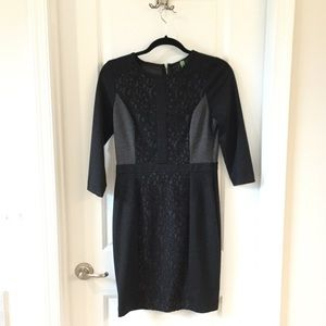 The Limited Small Black Lace 3/4 length dress